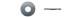 Шайба увеличенная оцинк.  М 4 DIN9021 (25кг)(1428шт-1кг)  84