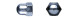 Гайка (Колпачковая ) DIN1587 М 8 (300)  (90шт=1кг)    142277