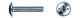 Винт для мебельной фурнитуры DIN 967 цинк 4×45 (4000)