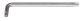Ключ ЗУБР «ЭКСПЕРТ» имбусовый длинный, Cr-Mo, сатинированное покрытие, TORX 15
