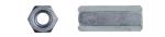 Гайка удлиненная DIN6334 (соединительная, переходная), оцинкованная