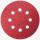Круги шлифовальные на липкой основе ПРАКТИКА  8 отверстий,  125 мм P180  (5шт.) картонный подвес