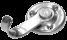 Крючок вешалка 1- рожковый мод. 2 (хром) (50)