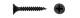 Саморез потай оксид част. рез. 4,2 х 76 (2000/2500)  (вес уп 7,2 кг)   34073