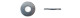 Шайба увеличенная оцинк.  М 4 DIN9021 (25кг) (1428шт=1кг)  84