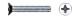 Винт потай с метр.резьбой   DIN965  6х 8 (3000)