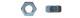 Гайка ш/гр.  М 6 DIN934 цинк (25 кг) (1кг=460шт)  1080