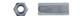 Гайка переходная оцинк. DIN6334 М 6х18 (124шт=1кг)