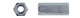 Гайка переходная оцинк. DIN6334 М12х36 (16,8шт=1кг)