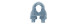 Зажим для стальных канатов DIN741  3мм (100/250)             10425