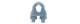 Зажим для стальных канатов DIN741  6мм (100)          5190
