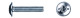Винт для мебельной фурнитуры DIN 967 цинк 4×35 (5500) (1кг=269,54шт)