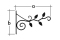Кронштейн декоративный для кашпо «ветка» 5425 UK 5