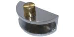 Полкодержатель для стеклянных полок PD GLВ с фиксацией хром
