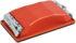 Держалка для наждачной бумаги с металл.прижимом, красная 210 х 105 мм